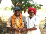 Raju w Mustard Seed Grower India - Nov 2012