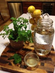 Infused lemon mint water in six easy steps.